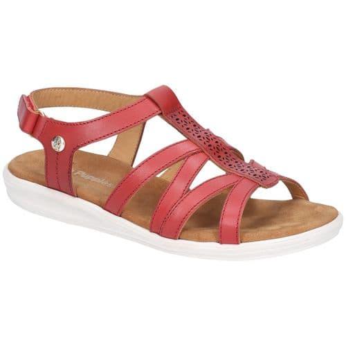 Hush Puppies Callie Sandal Ladies Summer Red